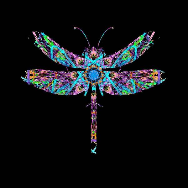 Digital Art - Abstract Dragonfly by Deleas Kilgore