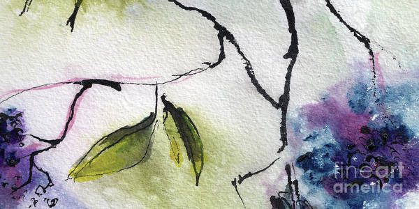 Painting - Abstract Elder Berries 2 Watercolor And Ink  by Ginette Callaway