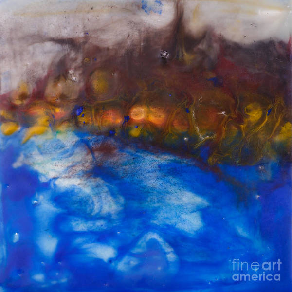 Painting - Abstract Encaustic Painting Ocean by Edward Fielding