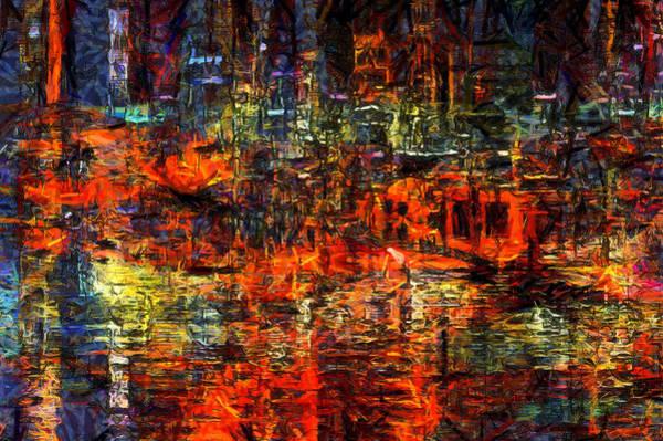 Abstract Evening Art Print