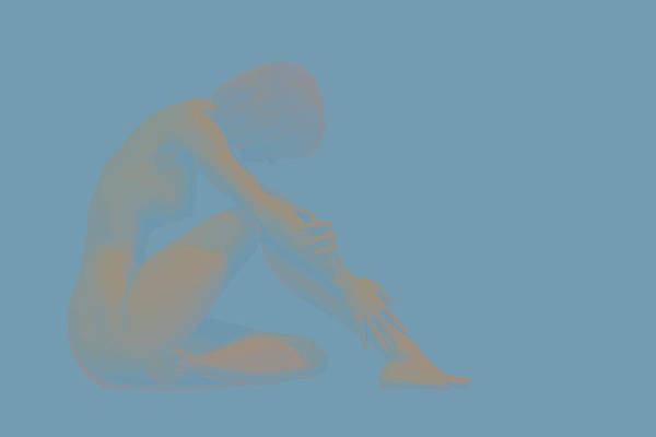 Female Nude Digital Art - Abstract Female Nude by Carol and Mike Werner