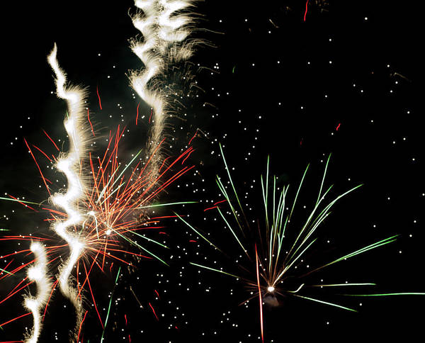 Photograph - Abstract Fireworks II by Helen Northcott