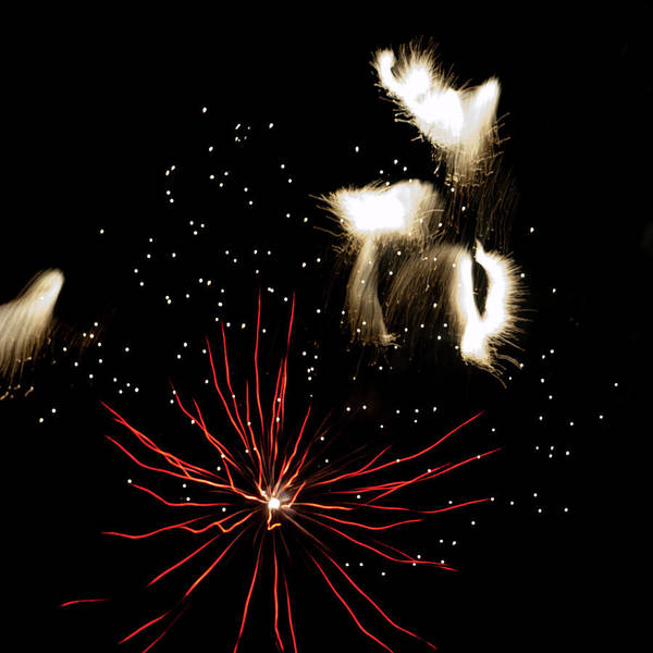 Photograph - Abstract Fireworks IIi by Helen Northcott
