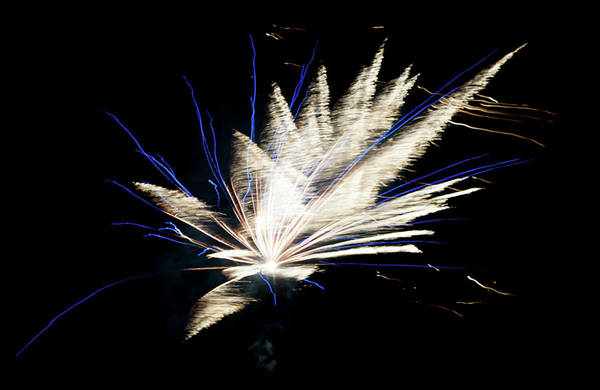 Photograph - Abstract Fireworks Iv by Helen Northcott
