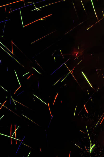 Photograph - Abstract Fireworks by Stewart Helberg
