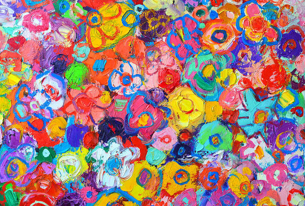 Wall Art - Painting - Abstract Floral by Ana Maria Edulescu