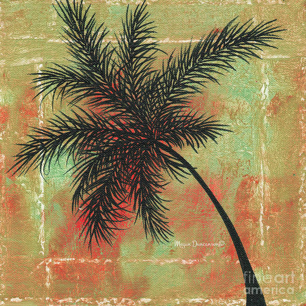 Wall Art - Painting - Abstract Floral Fauna Palm Tree Leaf Tropical Palm Splash Abstract Art By Megan Duncanson  by Megan Duncanson