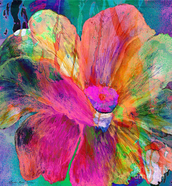 Painting - Abstract Floral Painting 007 by Mas Art Studio