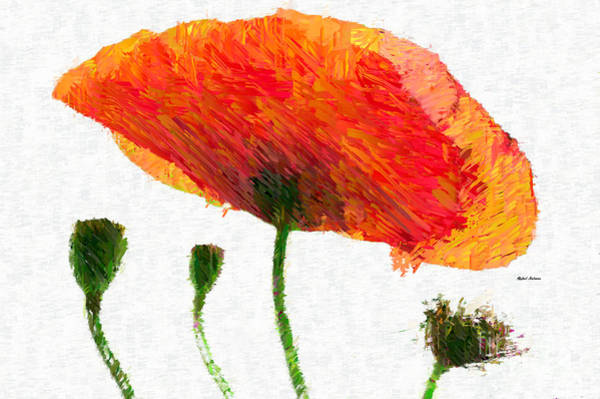 Mixed Media - Abstract Flower 0723 by Rafael Salazar