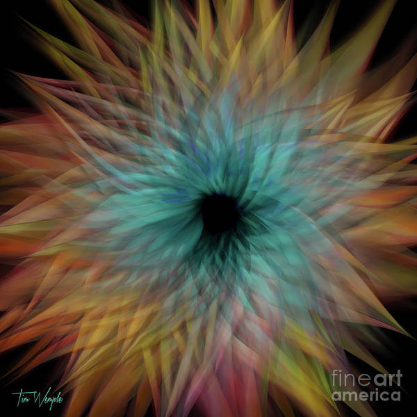 Digital Art - Abstract Flower 1 by Tim Wemple