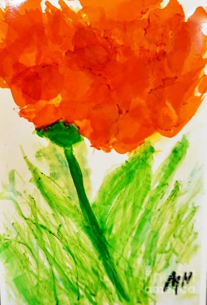 Wall Art - Painting - Abstract Flower In Ink by Marsha Heiken