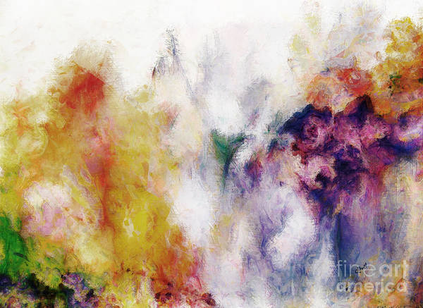 Digital Art - Abstract Flowers  by Claire Bull