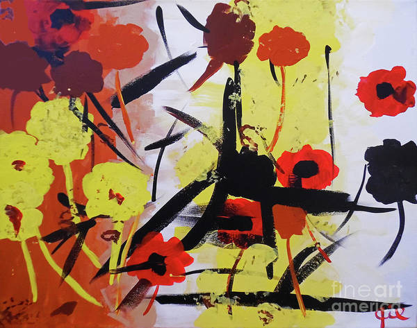 Painting - Abstract Flowers by Jilian Cramb - AMothersFineArt