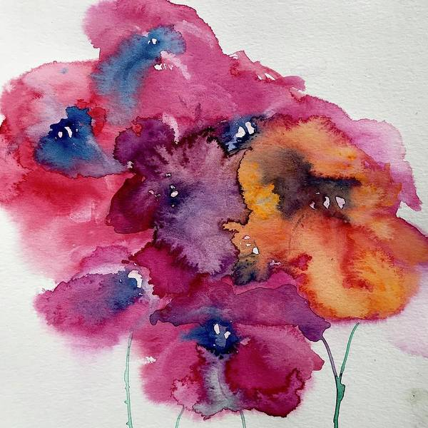 Wall Art - Painting - Abstract Flowers  by Julia S Powell