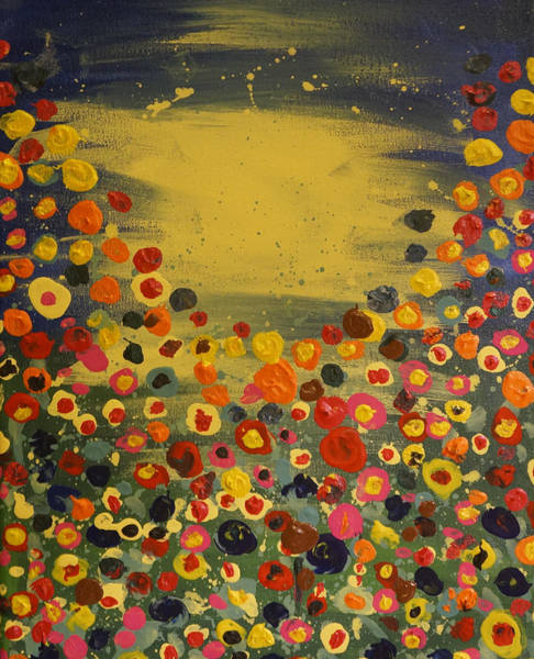 Painting - Abstract Flowes by Adam Asar