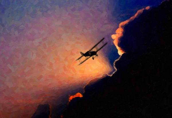 Painting - Abstract- Flying Away by Asar Studios