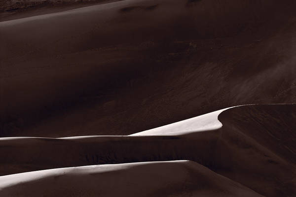 Great Sand Dunes National Park Photograph - Abstract Form Great Sand Dunes Colorado by Steve Gadomski