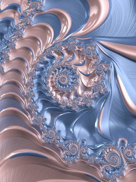 Digital Art - Abstract Fractal Art Rose Quartz And Serenity  by Matthias Hauser