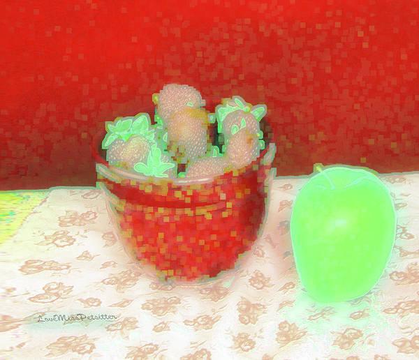 Digital Art - Abstract Fruit Art 68 by Miss Pet Sitter