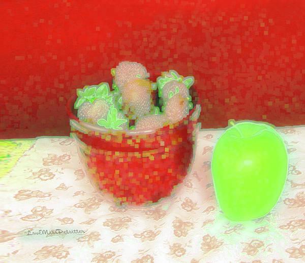 Digital Art - Abstract Fruit Art 69 by Miss Pet Sitter