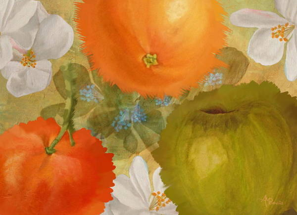 Painting - Abstract Fruits by Angeles M Pomata