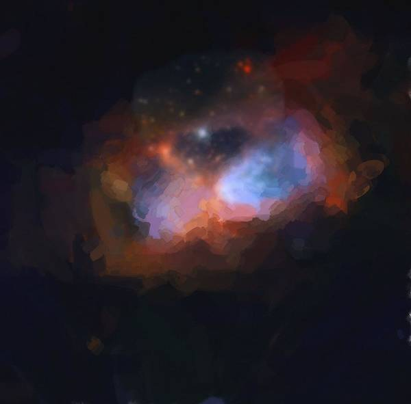Painting - Abstract Galactic Nebula No 1 by Asar Studios