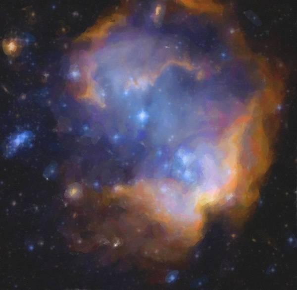 Painting - Abstract Galactic Nebula No 2 by Asar Studios