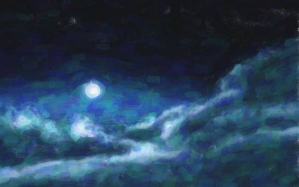 Painting - Abstract Galactic Nebula With Cosmic Cloud  14 by Asar Studios