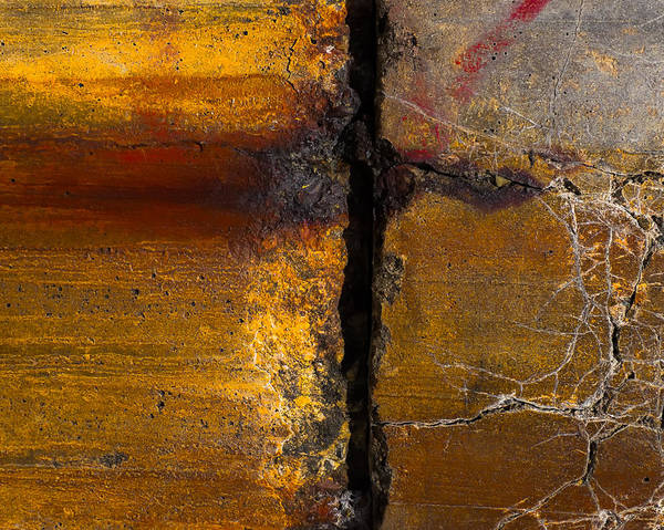 Cement Photograph - Abstract Gap by Joseph Smith