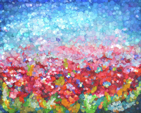 Digital Art - Abstract Garden by OLena Art - Lena Owens