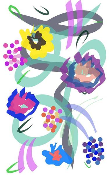 Digital Art - Abstract Garden Nr 4 by Bee-Bee Deigner