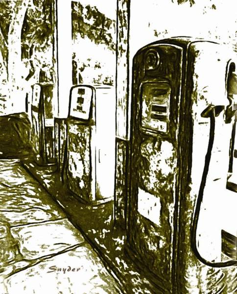 Photograph - Abstract Gas Pumps Los Alamos California by Barbara Snyder