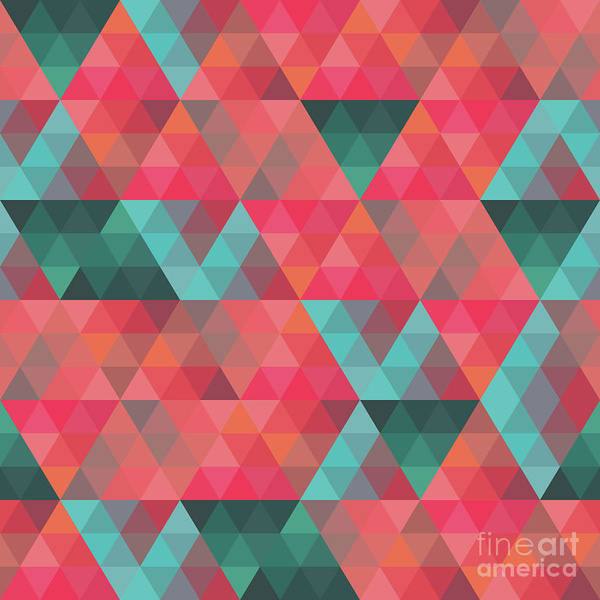 Endless Painting - Abstract Geometric Colorful Endless Triangles Abstract Art by Tina Lavoie