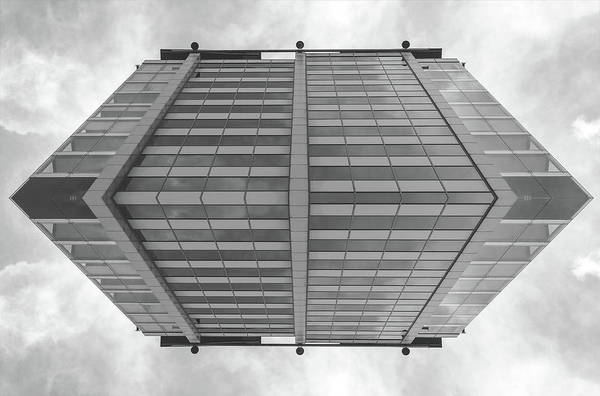 Photograph - Abstract Glass Building In Black And White Tone by Jacek Wojnarowski