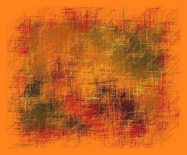 Wall Art - Painting - Abstract Golden Earth Tones II by L Brown