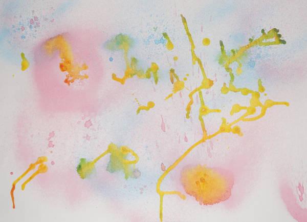 Painting - Abstract Golden Rain by Adam Asar