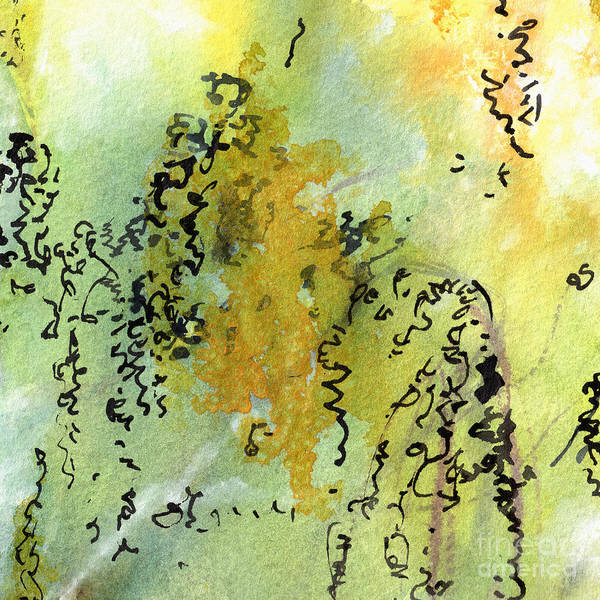 Painting - Abstract Green And Yellow  by Ginette Callaway