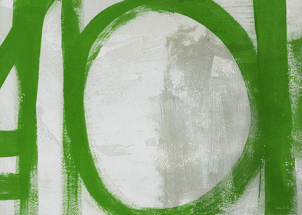 Wall Art - Painting - Abstract Green Circle 2- Art By Linda Woods by Linda Woods