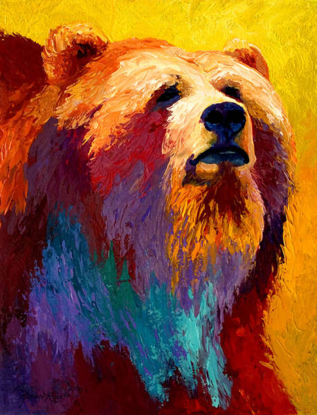 Bear Painting - Abstract Grizz by Marion Rose