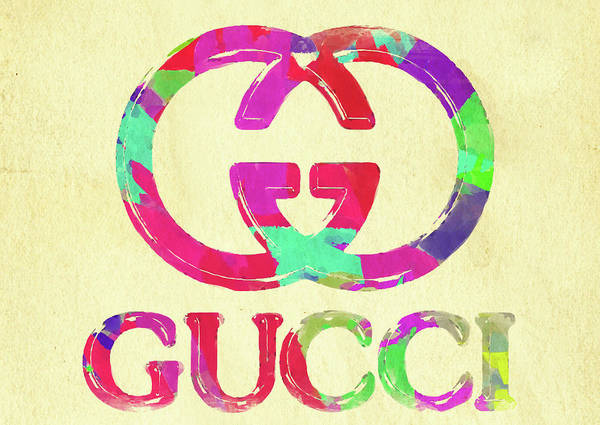 Palette Photograph - Abstract Gucci Logo Watercolor II by Ricky Barnard