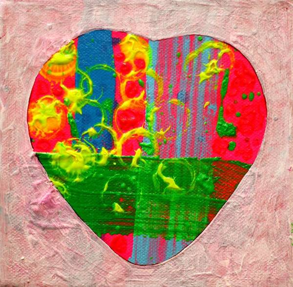 Wall Art - Painting - Abstract Heart 310118 by John  Nolan