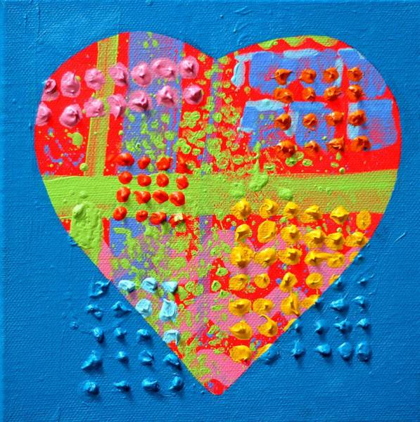Wall Art - Painting - Abstract Heart 50218 by John  Nolan