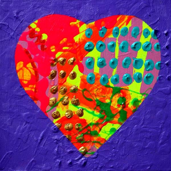 Wall Art - Painting - Abstract Heart 70218 by John  Nolan