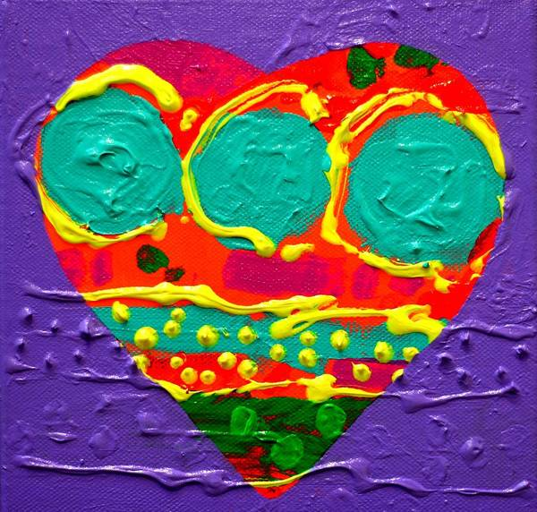 Wall Art - Painting - Abstract Heart I by John  Nolan