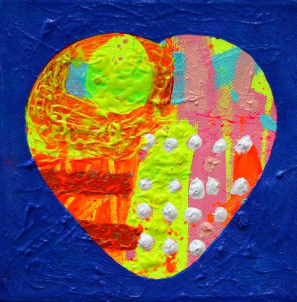 Wall Art - Painting - Abstract Heart II by John  Nolan