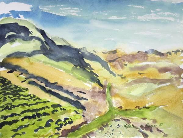 Abstract Hillside Art Print