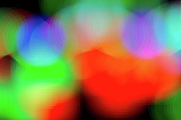 Photograph - Abstract Holiday Lights by SR Green