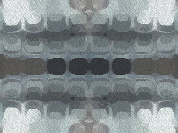 Work Of Art Digital Art - Abstract Horizontal Tile Pattern - Gray by Jason Freedman