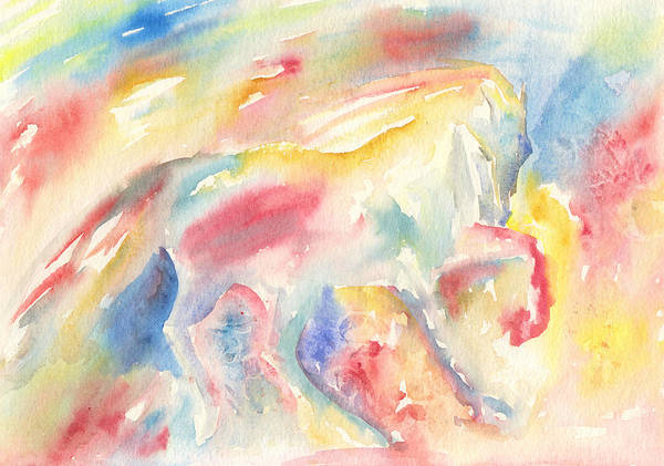 Painting - Abstract Horse II by Elizabeth Lock