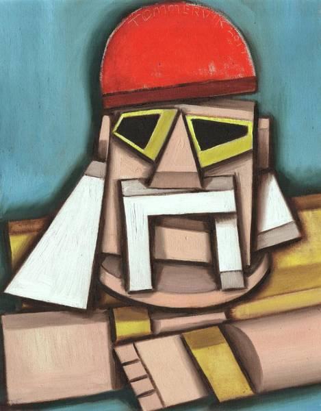 Wwe Wall Art - Painting - Abstract Hulk Hogan Art Print by Tommervik
